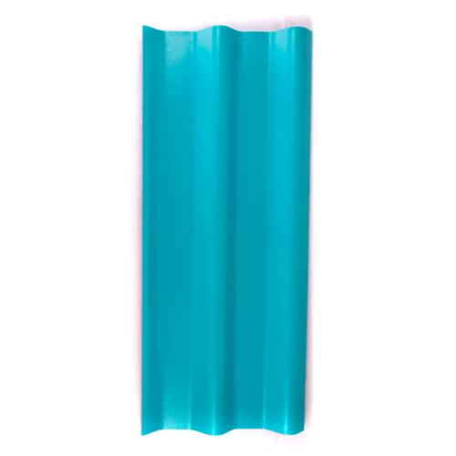 โอฬาร กระเบื้อง 4 มม. 50*120 ซม. ลอนคู่ สีฟ้าสดใส