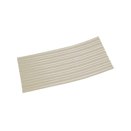 โอฬาร กระเบื้องปลายงอน-ขวา 4มม. 54*120 ซม.  ลอนเล็ก (ขวา-ซ้าย) สีขาว