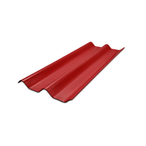 โอฬาร กระเบื้องลอนคู่ 5 มม.50*150 ซม.  ลอนคู่ (ลูกโลก )  สีแดง