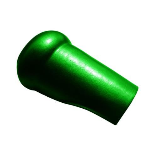 โอฬาร ครอบสันตะเข้  สามลอน(ลูกโลก) สีเขียว