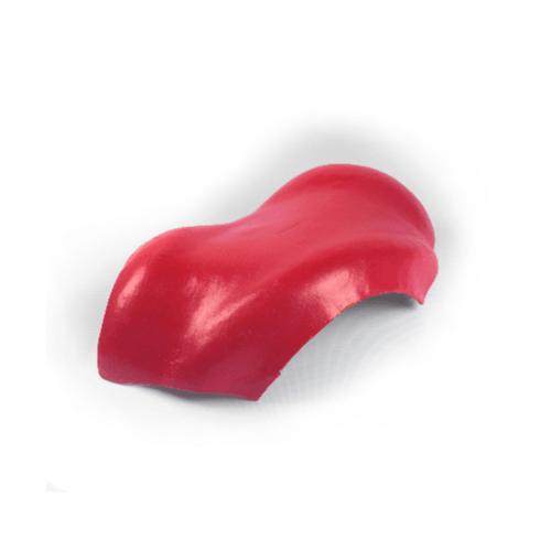 โอฬาร ครอบสันโค้ง 3 ทาง สีแดงประกายทับทิม  (ลูกโลก) ลอนคู่