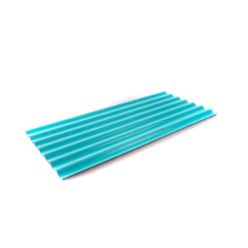 โอฬาร กระเบื้องลอนเล็๋ก 4 มม.54*150 ซม. (ลูกโลก) สีฟ้าสดใส ลอนเล็ก