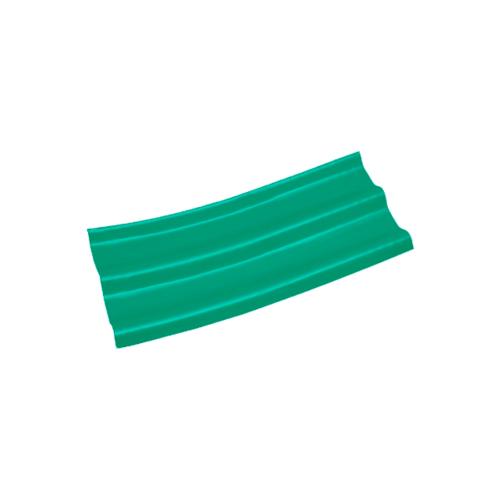 โอฬาร ลอนคู่ปลายงอน 5 มม. 50*120 ซม. (ลูกโลก)ขวา- สีประกายเขียวมรกต สีเขียว