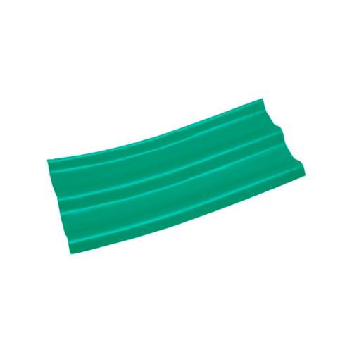 โอฬาร กระเบื้องลอนคู่ปลายงอน-ซ้าย 5มม.x120 ซม. สีประกายเขียวมรกต