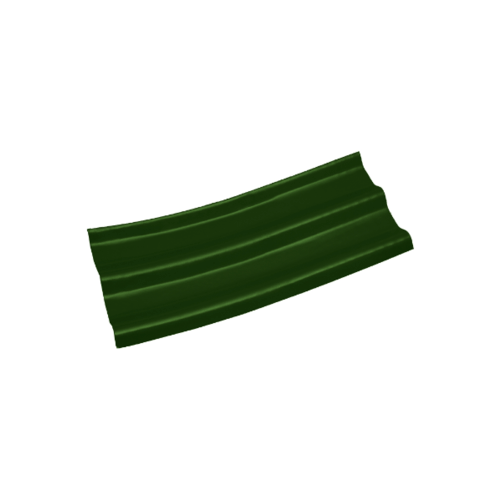โอฬาร กระเบื้องลอนคู่ปลายงอน-ขวา 5 มม. 50*120 ซม.  สีเขียวหยก