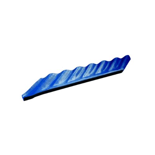 โอฬาร ครอบมุมตะเข้ขวา สีฟ้าเลิศนภา (ลูกโลก) ลอนเล็ก