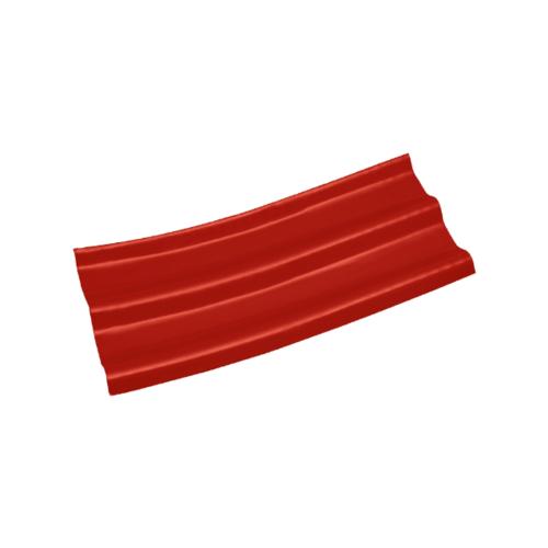 โอฬาร ลอนคู่ปลายงอน-ซ้าย 5 มม. 50*120 ซม.  ลอนคู่ สีแดงรุ่งอรุณ
