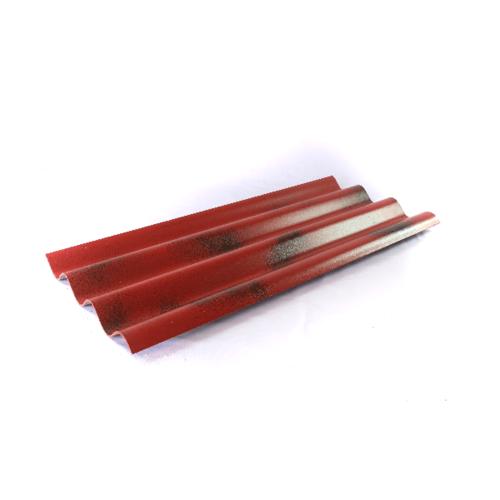 โอฬาร กระเบื้อง 5มม.x150 ซม. สามลอน (ลูกโลก) สีทับทิมสยาม