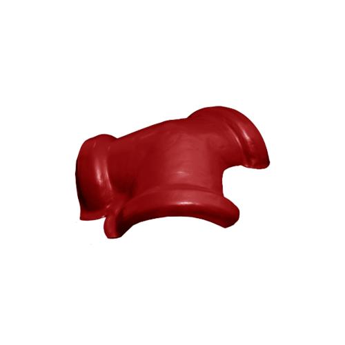 โอฬาร ครอบสันโค้ง 3 ทาง สีแดงรุ่งอรุณ (ลูกโลก) ลอนเล็ก