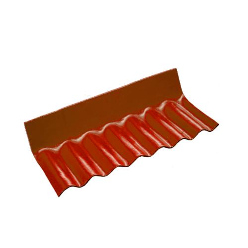 โอฬาร ครอบชนฝาลอนเล็กมุงจากขวาไปซ้าย 54*20*10 ซม. ลอนเล็ก สีแดง