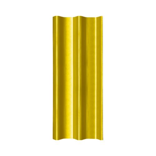 โอฬาร กระเบื้องลอนคู่ 5 มม. 50*120 ซม.(ลูกโลก) สีประกายทองคำ ลอนคู่