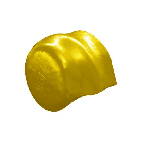 โอฬาร ครอบคู่ปิดจั่วลอนคู่สั้น (ลูกโลก)สีประกายทองคำ ลอนคู่ สีทอง