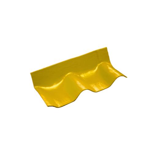 โอฬาร ครอบชนฝา มุงจากซ้ายไปขวา 50*20*10 ซม.(ลูกโลก) สีประกายทองคำ ลอนคู่ สีทอง