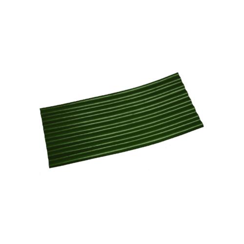 โอฬาร กระเบื้องปลายงอน-ซ้าย 0.4x54x120ซม. สีเขียวหยก (ลูกโลก) ลอนเล็ก