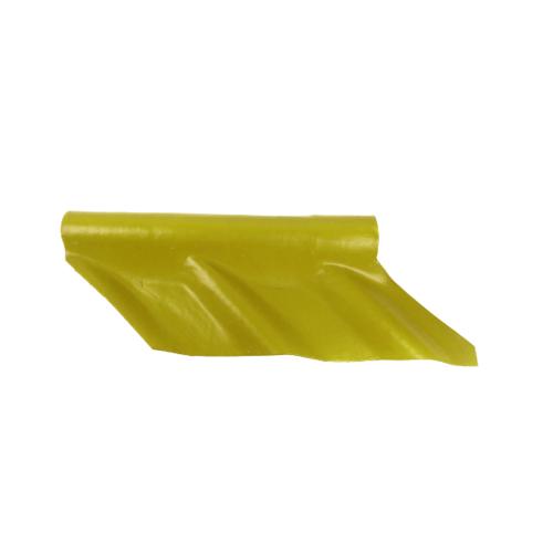 โอฬาร ครอบมุมตะเข้ตัวบน สีเหลืองกาญจนา (ลูกโลก) ลอนคู่