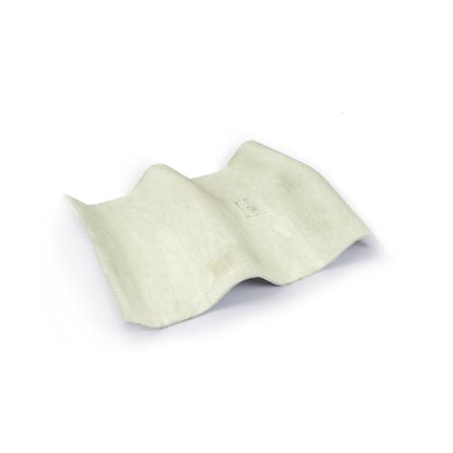 โอฬาร ครอบมุม 10 องศา 50*45 ซม.(ลูกโลก) ลอนคู่ สีขาว