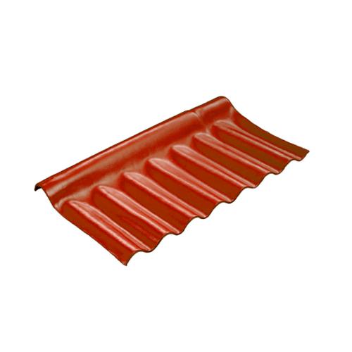 โอฬาร ครอบปรับมุมลอนเล็กตัวล่าง 54*28 ซม. ลอนเล็ก สีแดง