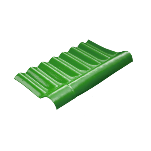 โอฬาร ครอบปรับมุมลอนเล็กตัวบน 54*29 ซม.(ลูกโลก) สีเขียวหยก ลอนเล็ก