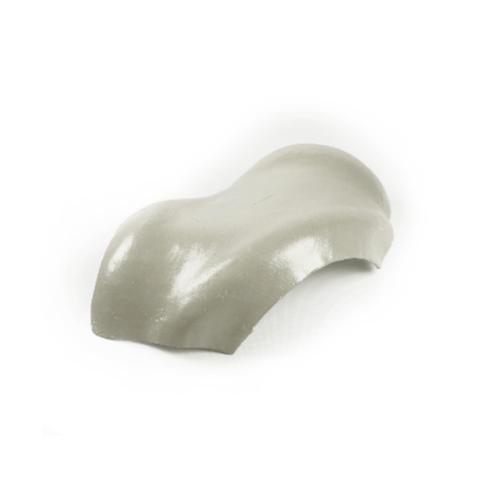โอฬาร ครอบสันโค้งคู่ 3 ทาง ใยหิน (ลูกโลก) สีเทาไททาเนี่ยม ลอนคู่ สีเทา