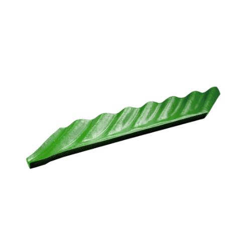 โอฬาร ครอบตะเข้-ขวา สีเขียวหยก (ลูกโลก) ลอนเล็ก