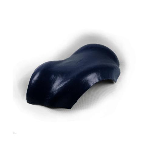 โอฬาร ครอบสันโค้ง 3 ทาง สีน้ำเงิน (ลูกโลก) ลอนคู่