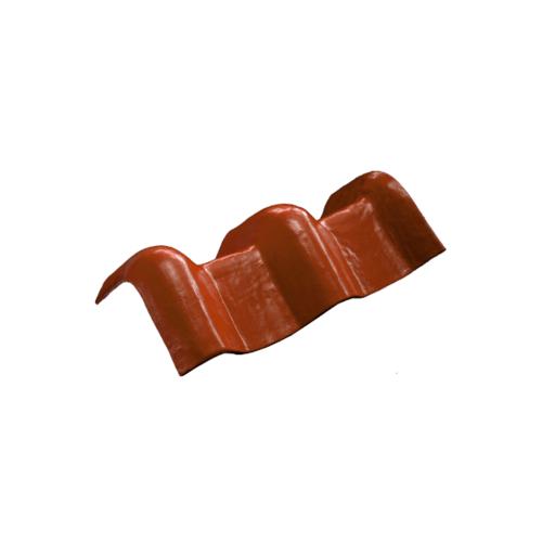 โอฬาร ครอบเพิงแหงน  50x15x15 ซม.(ลูกโลก) สีหมากแดง ลอนคู่