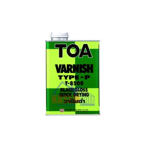 TOA น้ำมันวานิช ดำ 1/4 กล T8500