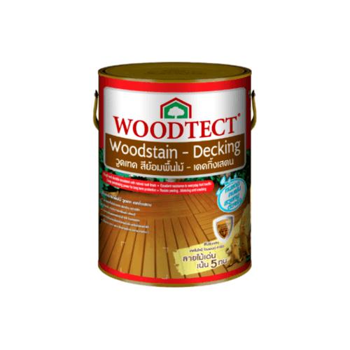 WOODTECT วูดเทคเดคกิ้งเสตน สีไม้ประดู่ ขนาด 1 กล. WD-507
