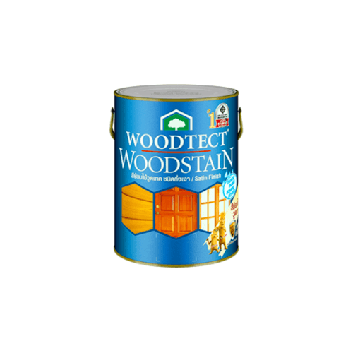 WOODTECT สีย้อมไม้กึ่งเงา  WS-201 สัก