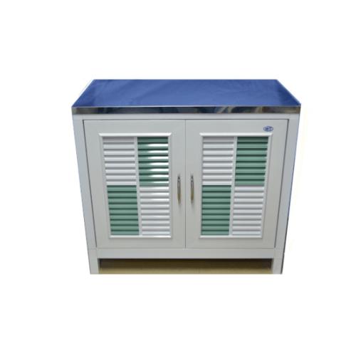 WT ตู้ท๊๋อป (KD) WT-555/ขาว-เขียว WT-555