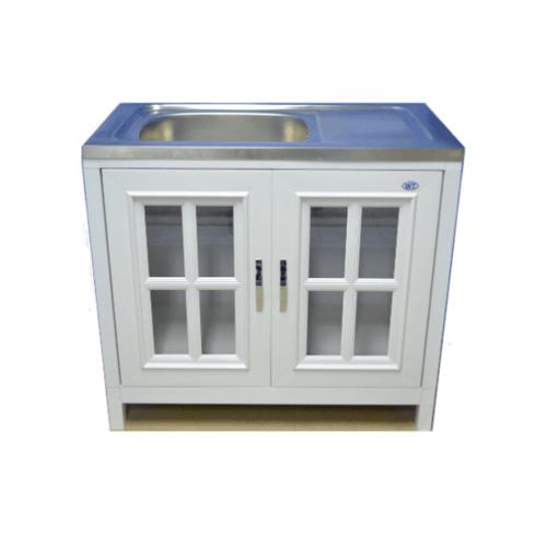 WT ตู้พร้อมซิงค์ (KD)  GM1  สีขาว