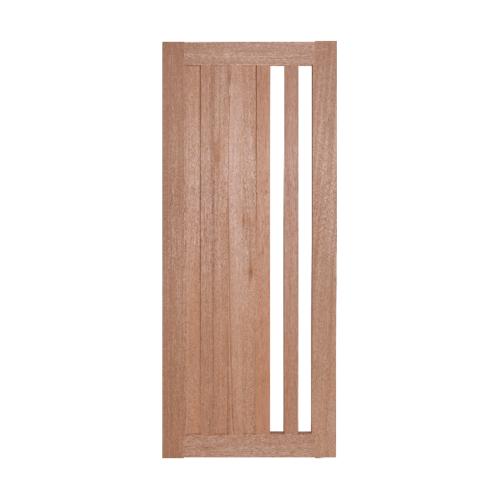 BEST ประตูไม้สยาแดง ทำช่องพร้อมกระจกฝ้า ขนาด50x200ซม.  GS-47