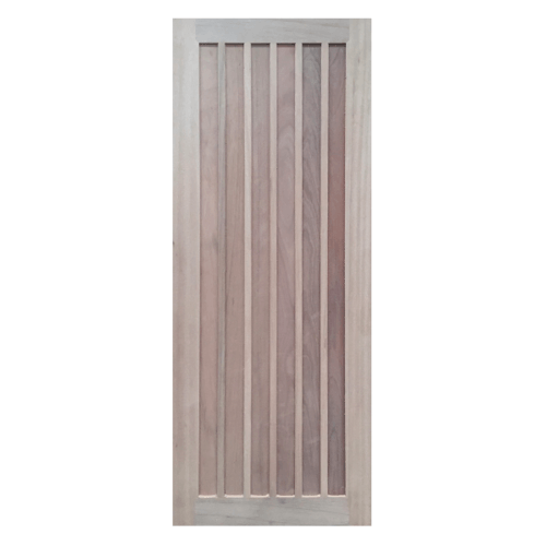 BEST ประตูไม้สยาแดง บานทึบ  80x200ซม. GS-73