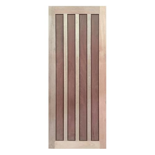 BEST ประตูไม้สยาแดง บานทึบลูกฟัก 100x200ซม. (ทำสี) GS-39