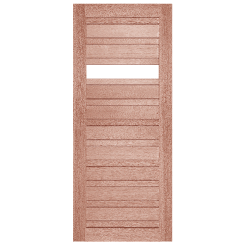 BEST สพ.ประตูไม้สน กระจกใส 1 ช่อง  ขนาด 100x200 cm. GS-53
