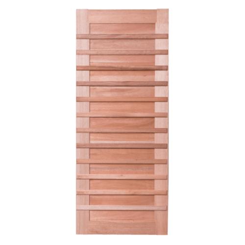 BEST ประตูไม้สยาแดง  ขนาด 90x210cm. GS-59