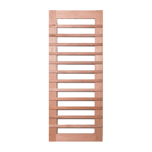 BEST ประตูไม้สยาแดง  ขนาด 70x210cm. GS-59
