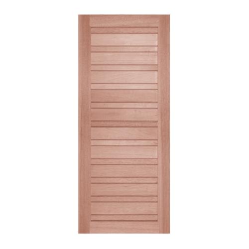 BEST  ประตูไม้สยาแดง บานทึบทำร่อง ขนาด 110x220ซม. GS-53