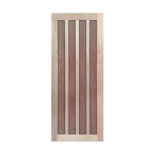 BEST ประตูไม้สยาแดง บานทึบลูกฟัก ขนาด  70x180ซม. GS-39