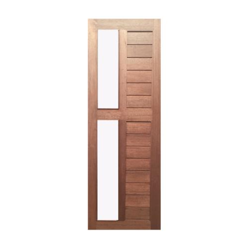 BEST  ประตูไม้สยาแดง ทำร่องพร้อมกระจก ขนาด 78x207ซม. GS-57