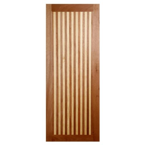 BEST  ประตูไม้สยาแดง บานทึบเรียบขนาด 90x220ซม. GL-01