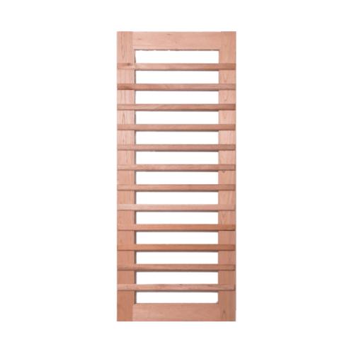 BEST สพ-ประตูไม้สยาแดง ทำช่องพร้อมกระจก 100x220ซม. (ทำสี) GS-59