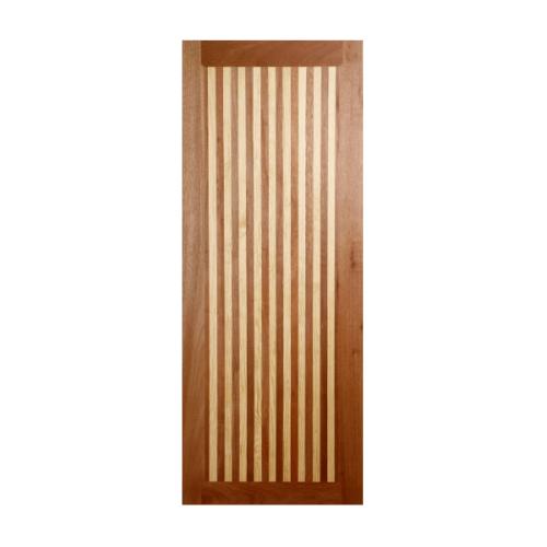 BEST  ประตูไม้สยาแดง บานทึบ  100x220ซม. GL-01