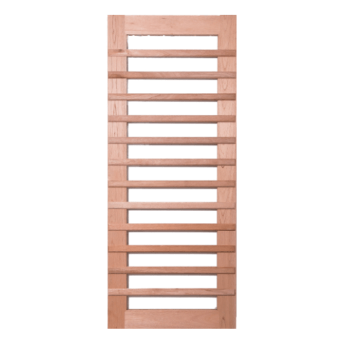 BEST  ประตูไม้สยาแดง  กระจกใส  ขนาด 90x240 ซม. (ทำสี) GS-59