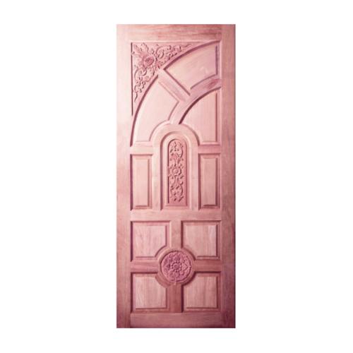 BEST  ประตูไม้สยาแดง บานทึบลูกฟักแกะลาย ขนาด 80x200ซม. (ทำสี)  GC-01
