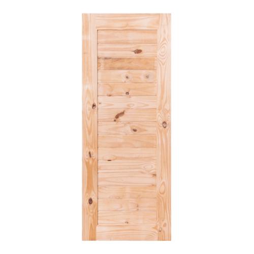 BEST  ประตูไม้สน บานทึบทำร่อง 70x220ซม. GS-52S