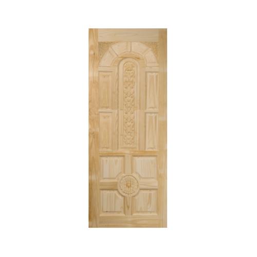 BEST ประตูไม้สน บานทึบลูกฟักแกะลาย ขนาด 120x200 ซม. GC-75