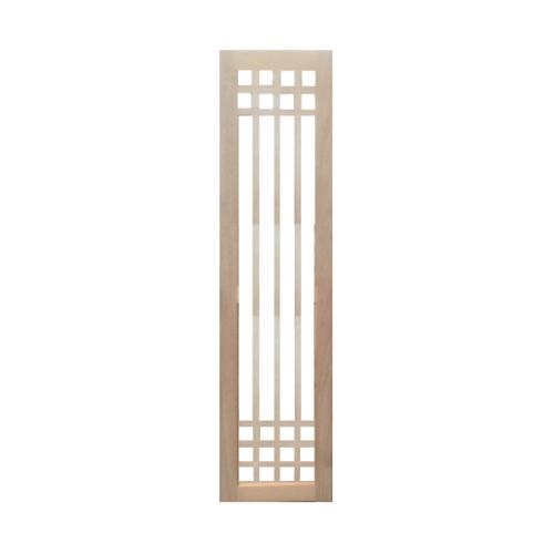 BEST  ประตูไม้สยาแดง พร้อมกระจกใส ขนาด  50x200ซม. (ทำสี) GS-66
