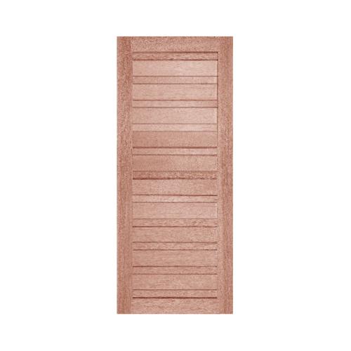 BEST  ประตูไม้สยาแดง บานทึบเซาะร่องสลับ ขนาด 90x216ซม.  GS-53