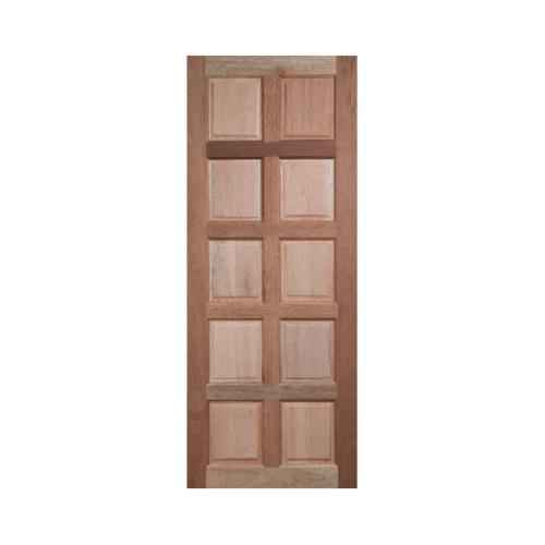 BEST  ประตูไม้สยาแดง บานทึบ 10 ฟัก ขนาด 90x200ซม. GS-49